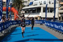 about to cross the finish line